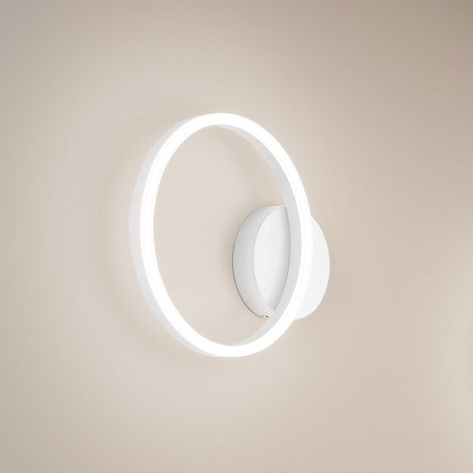 LED wandlamp Giotto, 1-lamp, wit