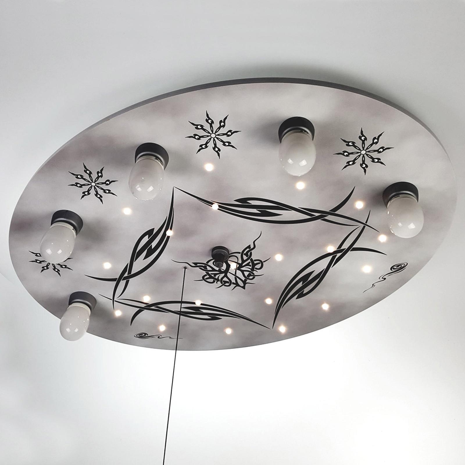 Lampa sufitowa Gothik z LED i modułem Alexa