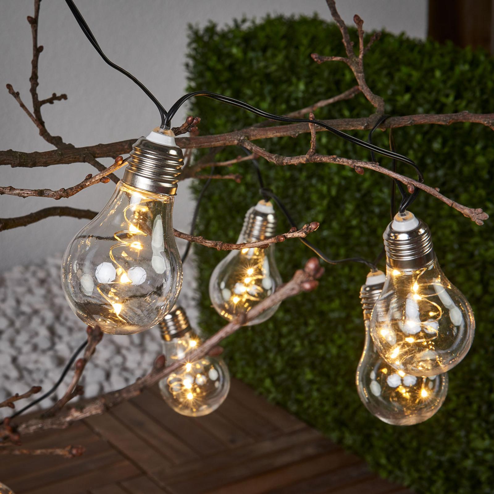 Glow - catena luminosa trasparente, energia solare