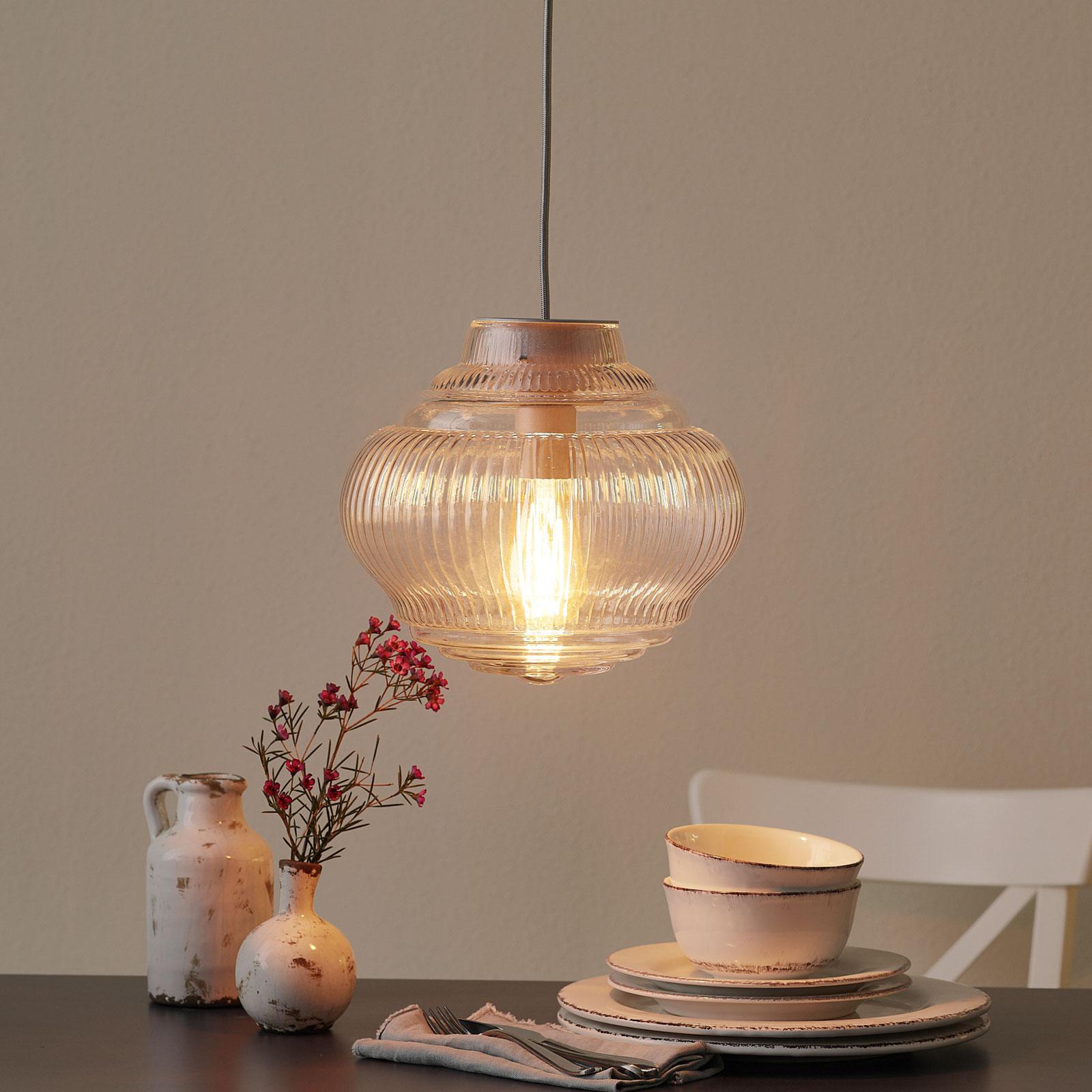 Lampa wisząca Bonnie 130 cm przezroczysta