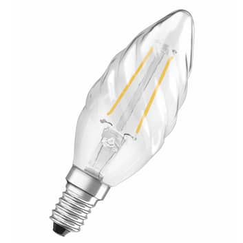 OSRAM ampoule flamme LED E14 2,5W 827 torsadée