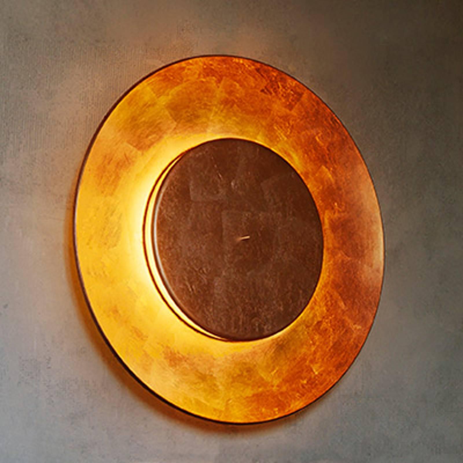 Bladkoperen wandlamp Lunaire 75 cm