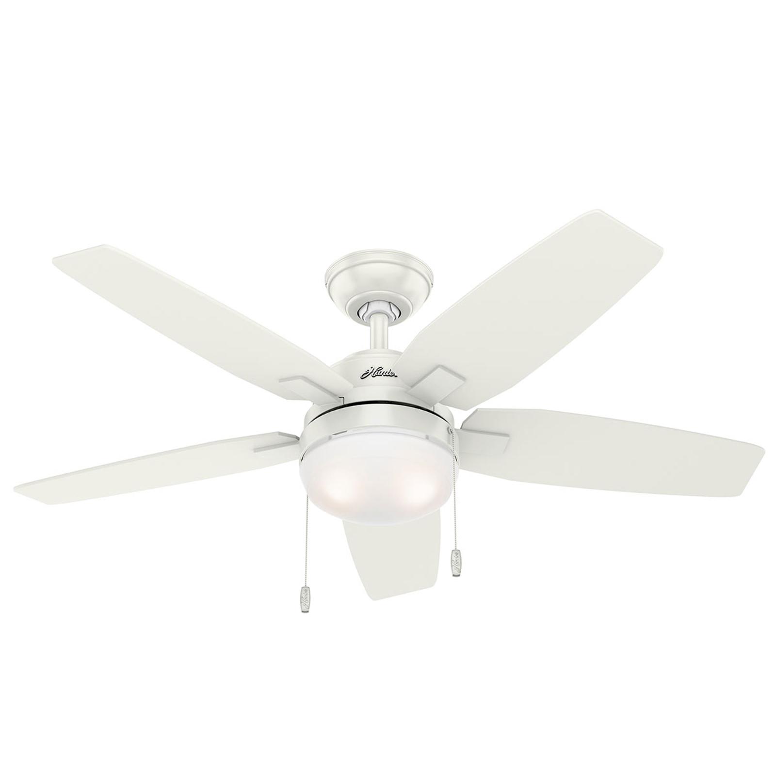 Hunter Arcot Ventilator mit Licht, weiß/grau günstig online kaufen