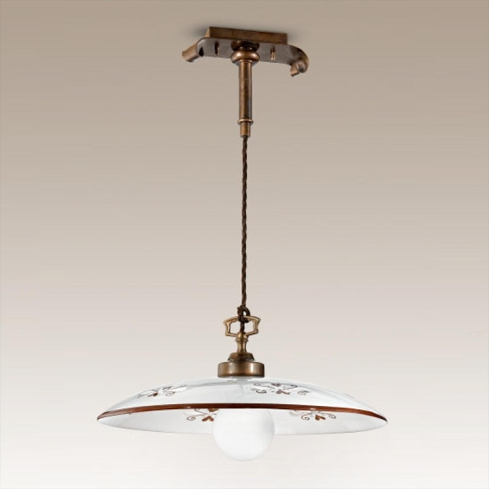 Gustowna lampa wisząca Bassano brązowa