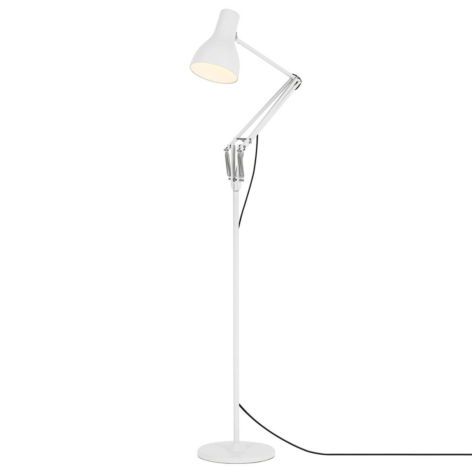 Anglepoise Type 75 lampa stojąca biel alpejska