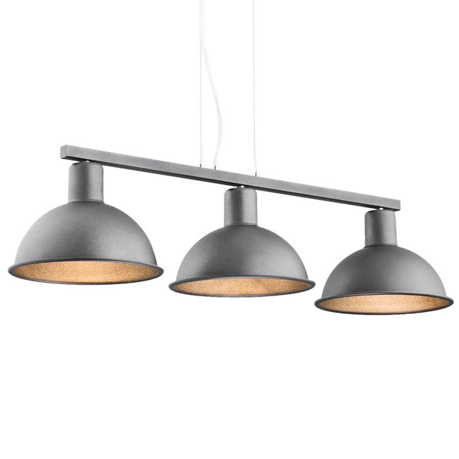 Suspension Amaro à 3 lampes, anthracite