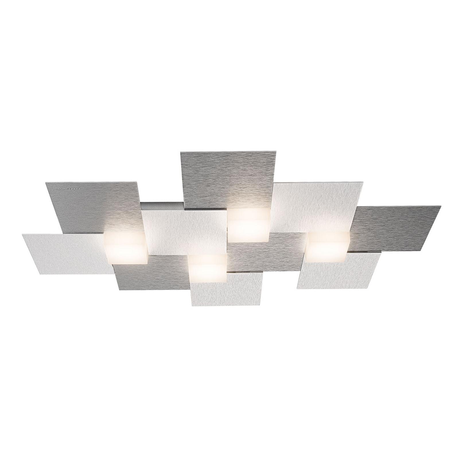 GROSSMANN Creo plafonnier 4 lampes 55x38,5 alu