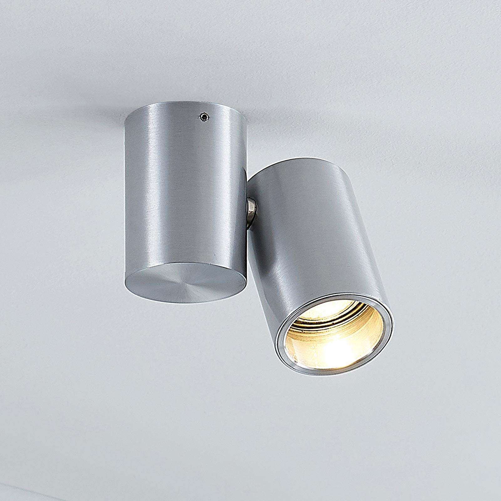 Plafondlamp Gesina, één lampje, alu