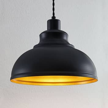 Vintage-pendellampa Albertine, metall, svart