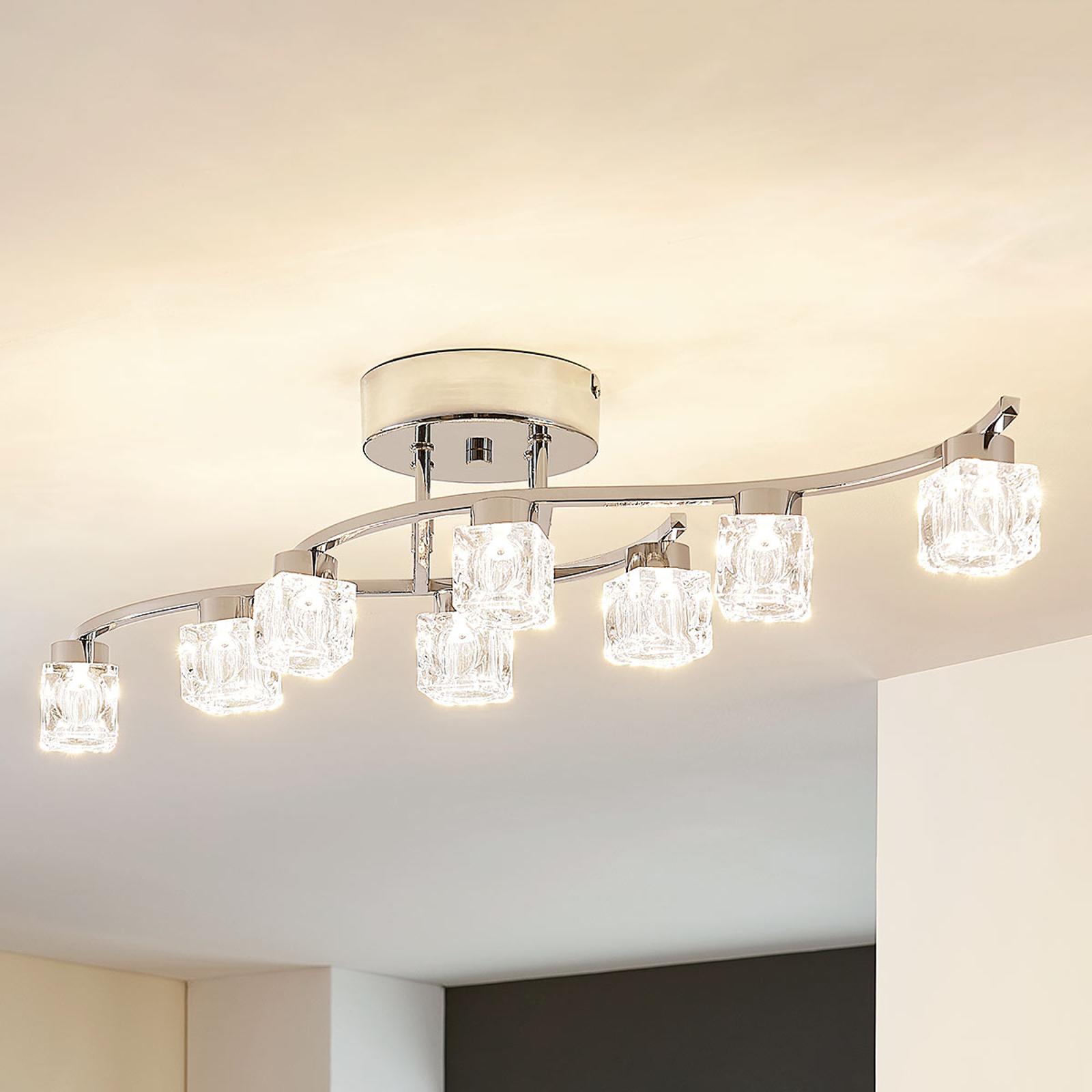 Yaro – dimbar LED-taklampa, åtta ljuskällor