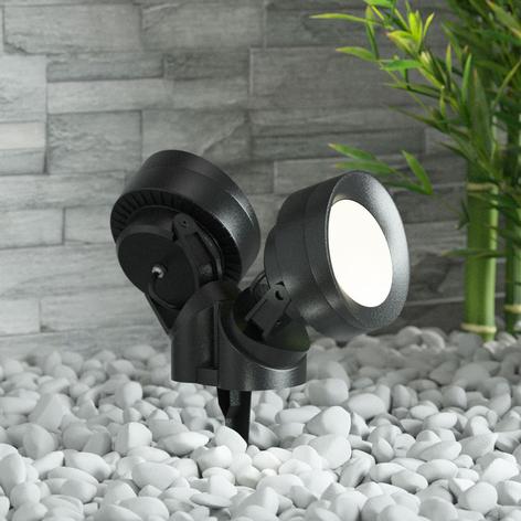 Tommy-EL spot med jordspyd LED rund 10W 2 lys
