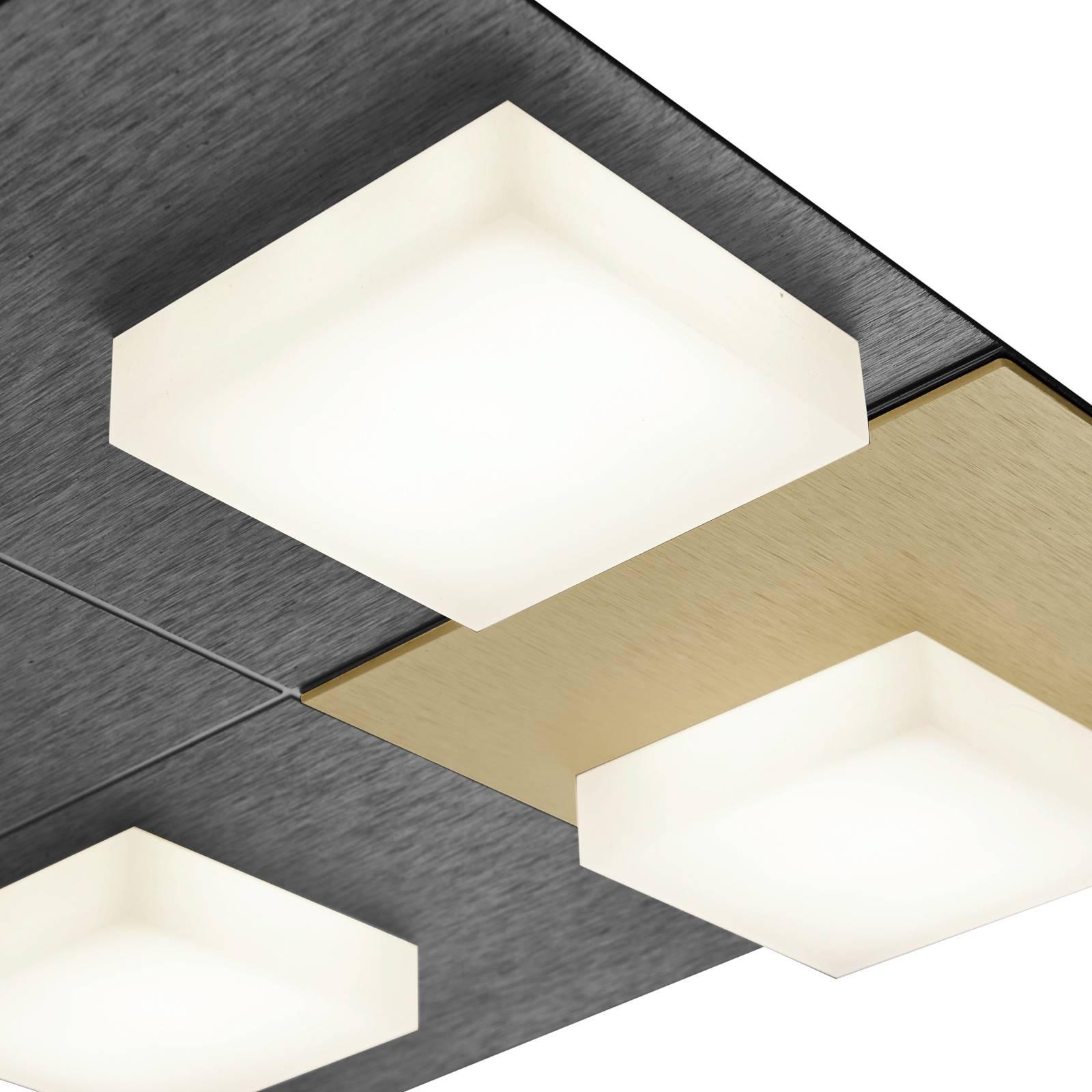 BANKAMP Cube plafondlamp 32W 28x28cm, antraciet