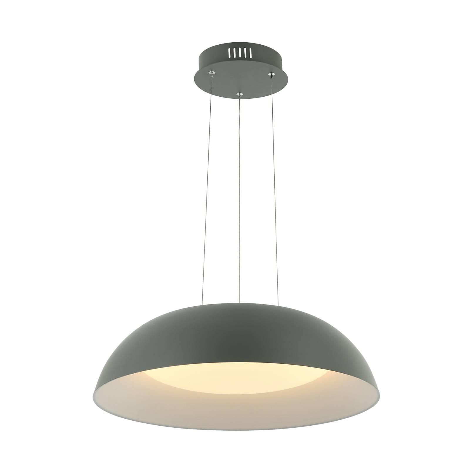 Lindby Lindby Juliven LED závěsné světlo, šedé, 50 cm