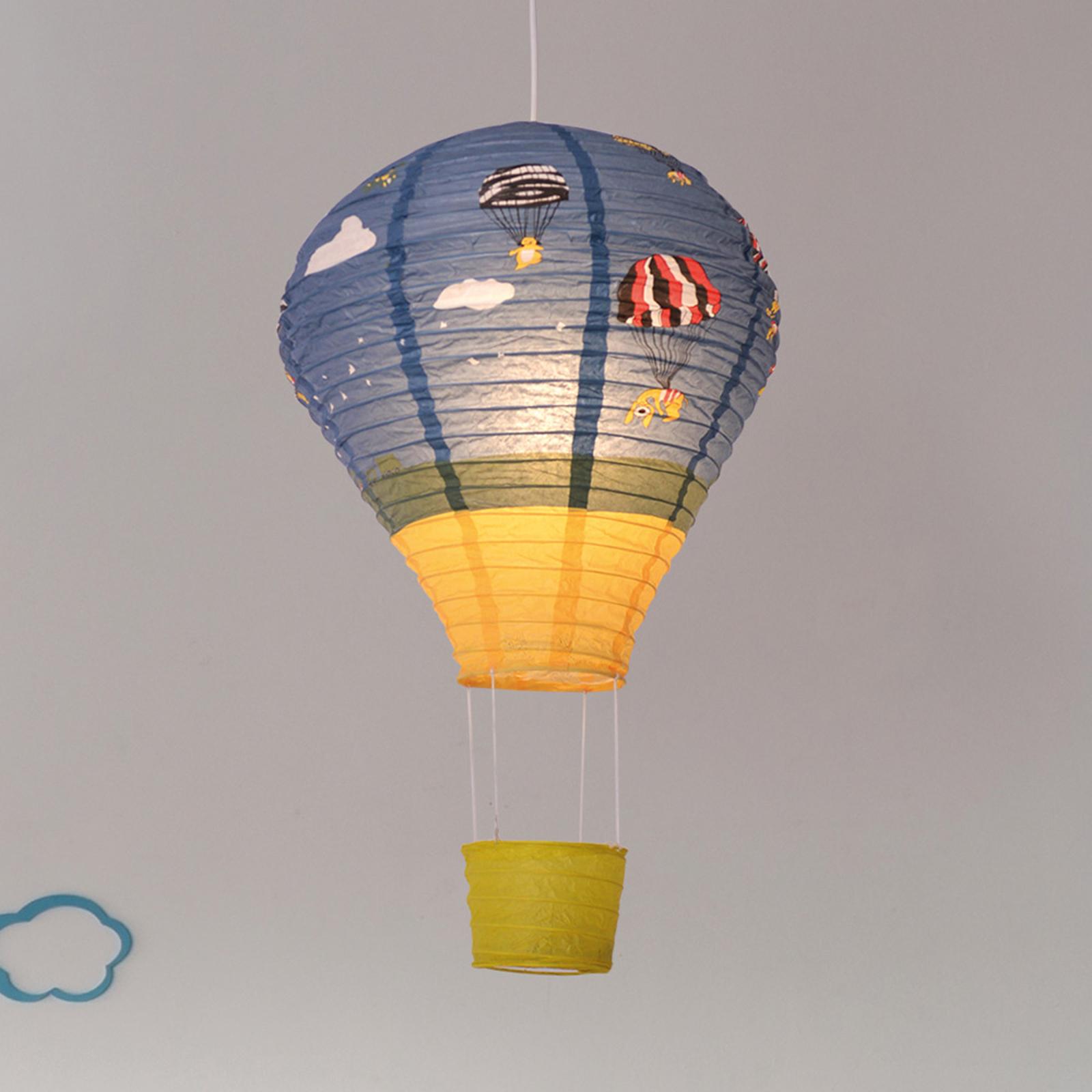 Ballon hængelampe af rispapir