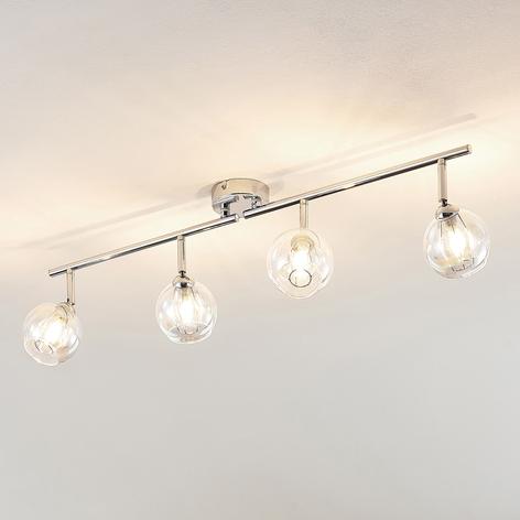 Lindby Pranas spot pour plafond LED, à 4 lampes