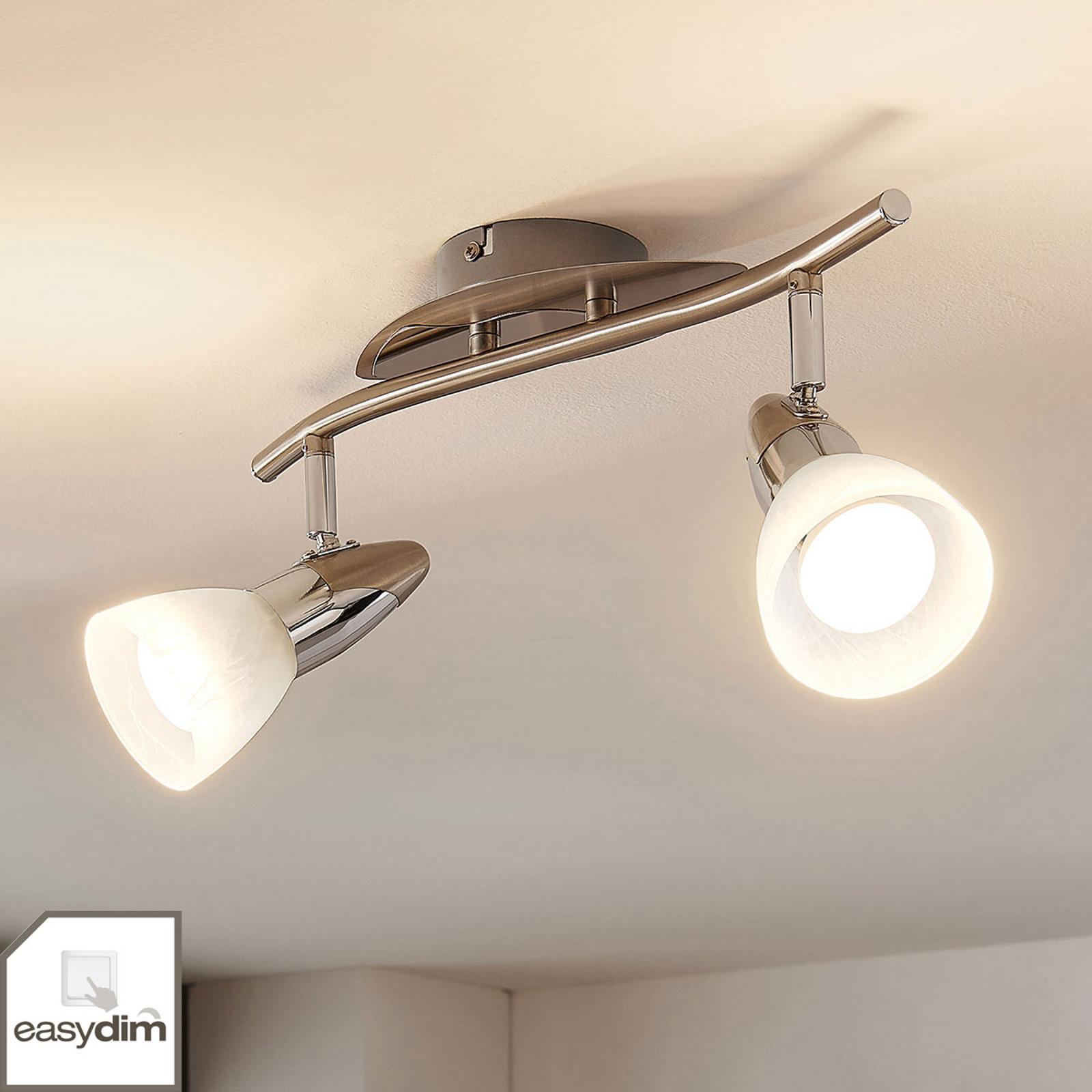 Plafonnier Cora, easydim, deux lampes