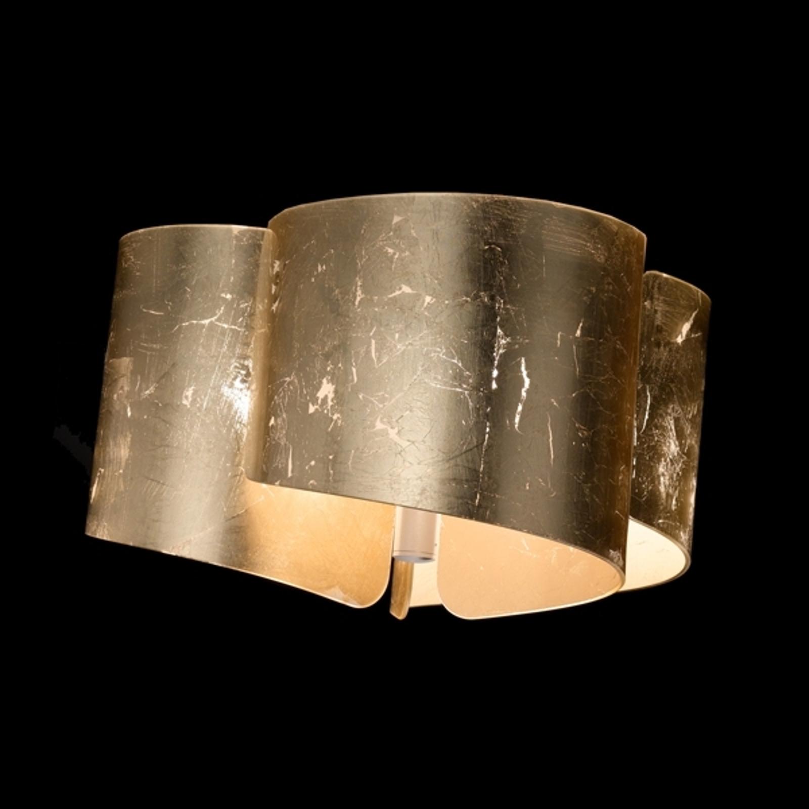Indrukwekkende plafondlamp Papiro, goudkleurig