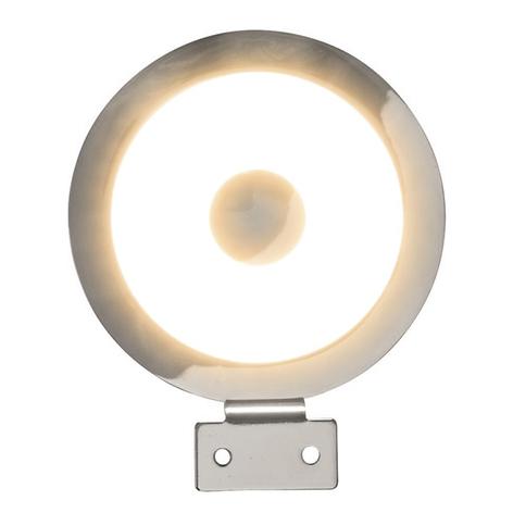 Lámpara de espejo LED Tondo de diseño circular