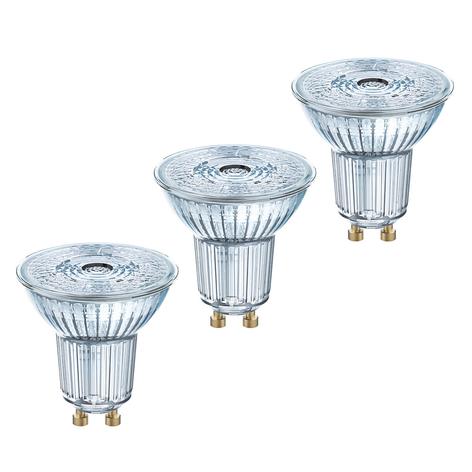 LED reflektor GU10 4,3W, varmhvid, 350 lm, 3er-Set