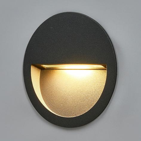 Applique LED rotonda da incasso Loya