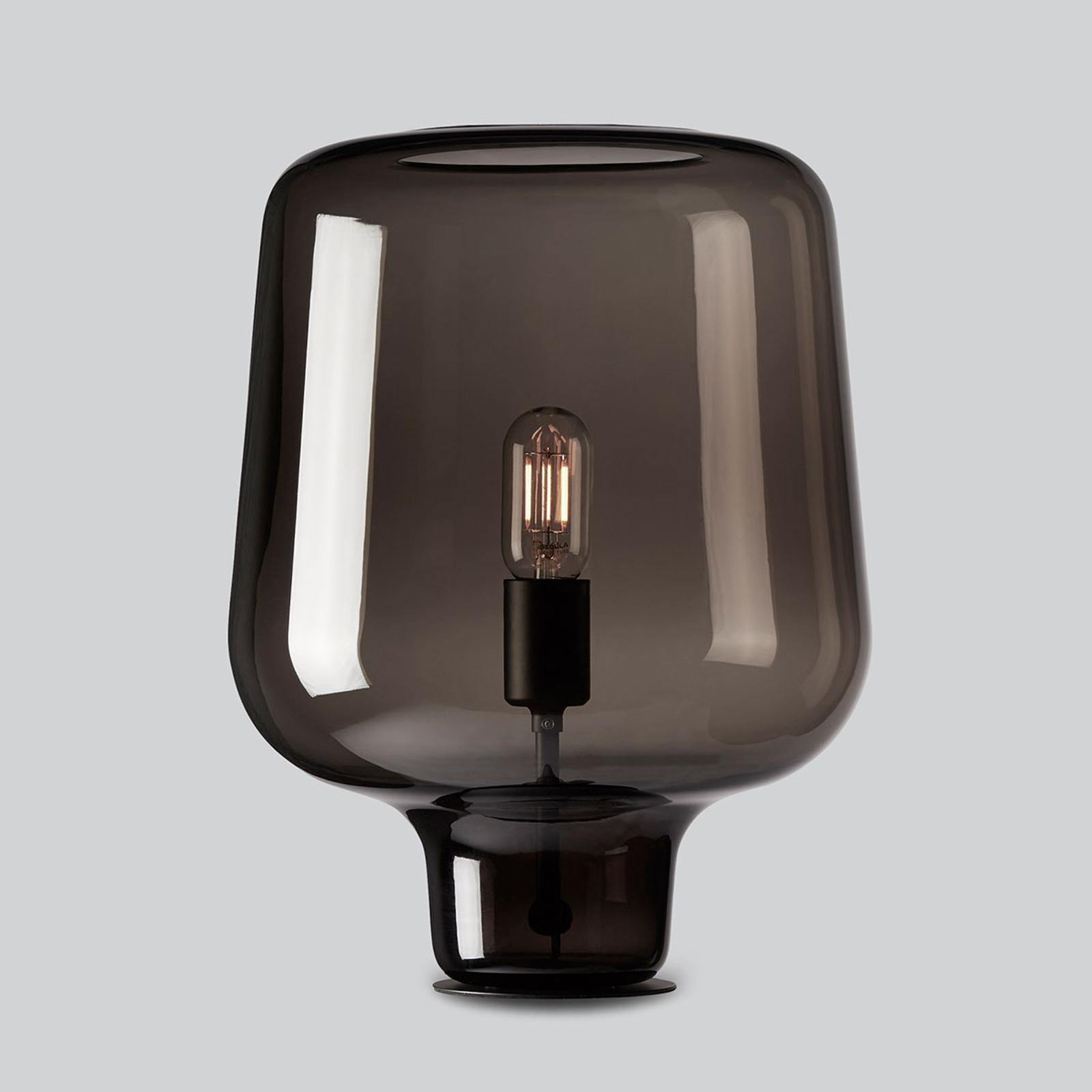 Northern Say my name - tafellamp, glanzend grijs