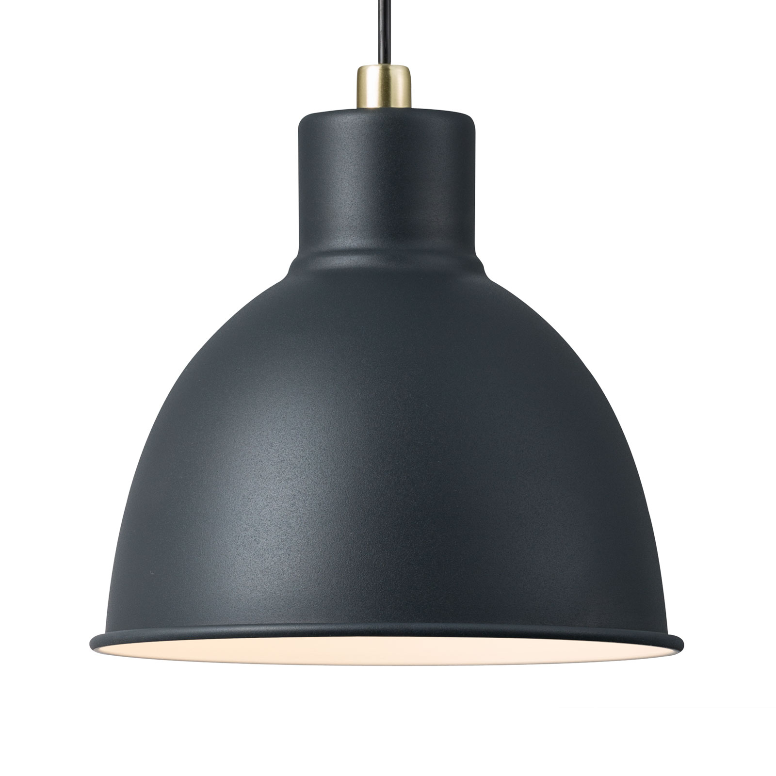 Lampa wisząca Pop Rough z metalu, czarna