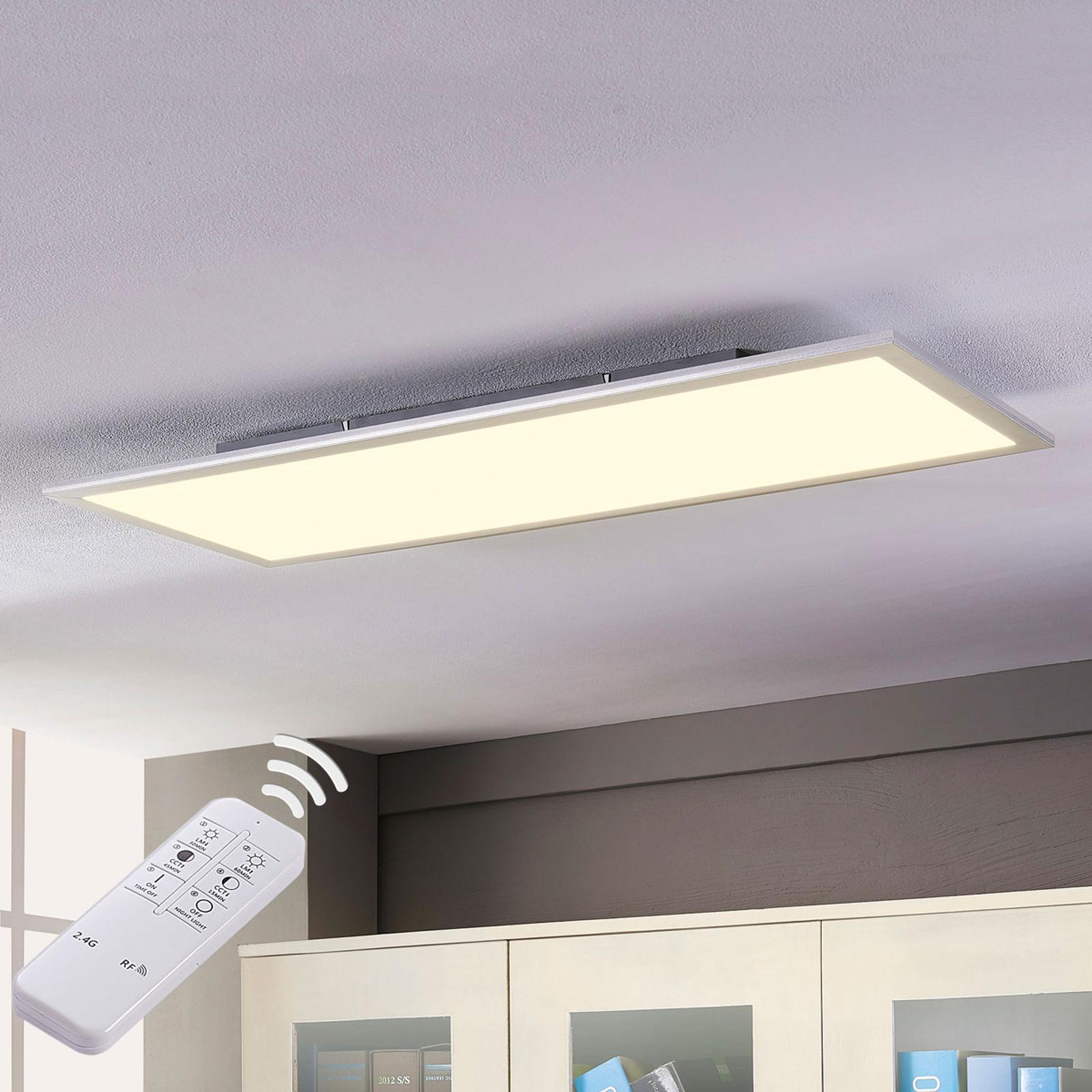 Lindby Stenley LED panel, CCT, 120 cm x 30 cm