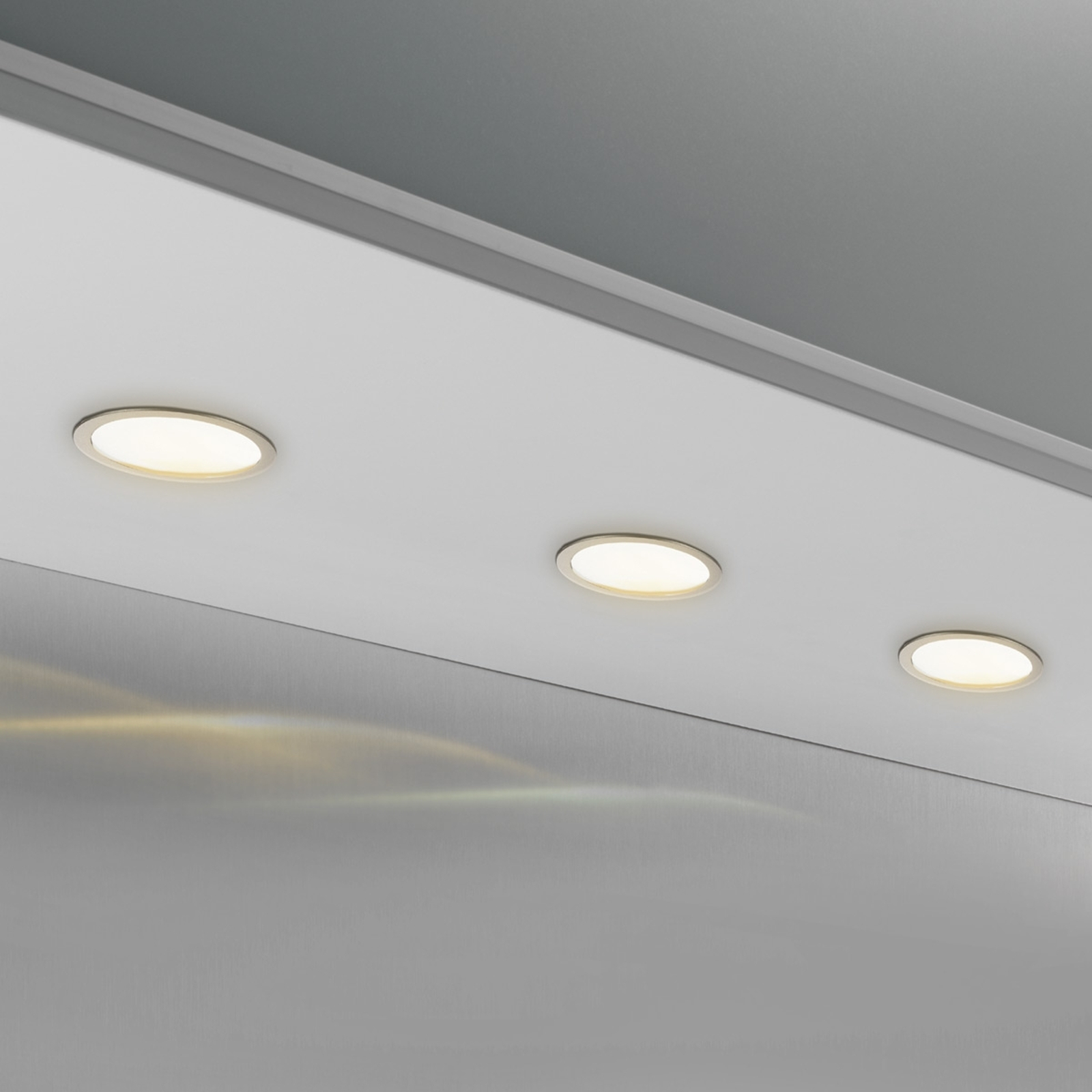 Spot pour meuble rond CUBIC 68 3500 K nickel