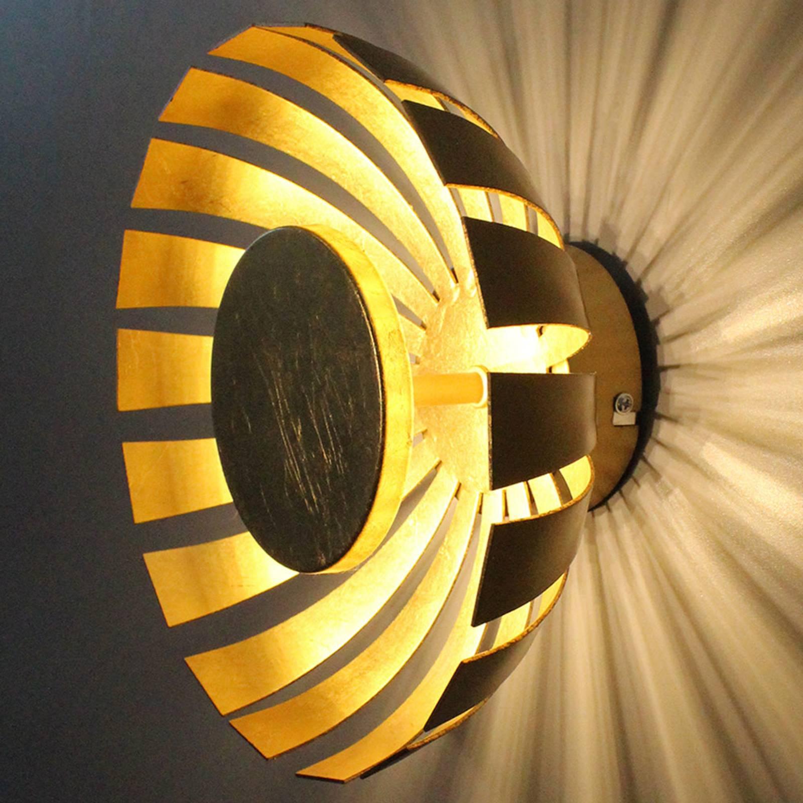 LED wandlamp Flare Large, goud