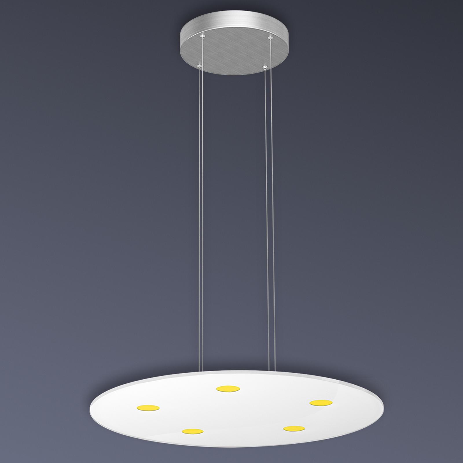 Runde LED-Pendelleuchte Sunia mit Touch-Dimmer