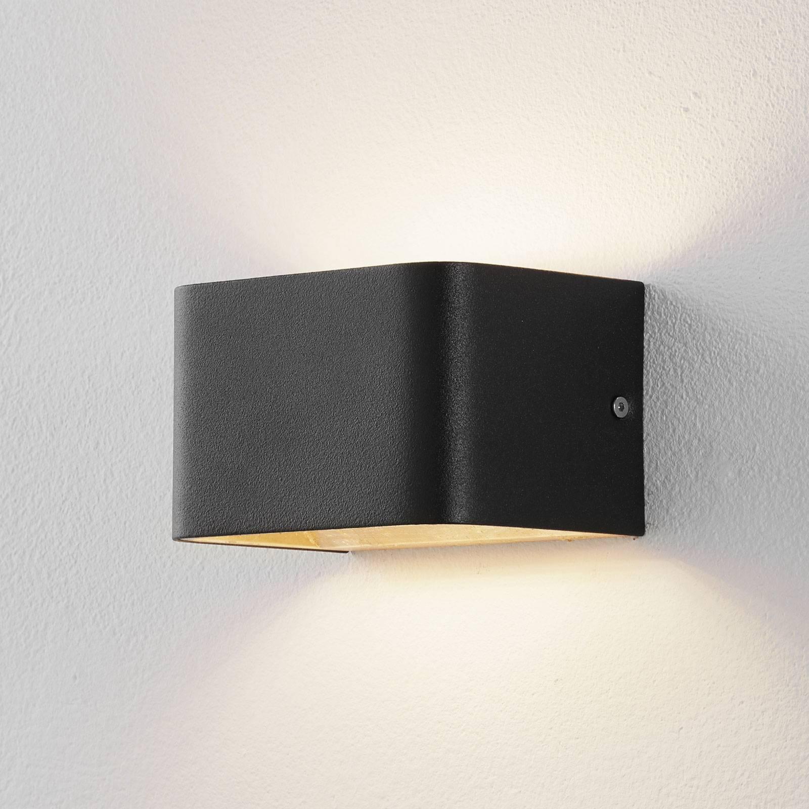Lucande Sessa LED wandlamp 13cm zwart-goud