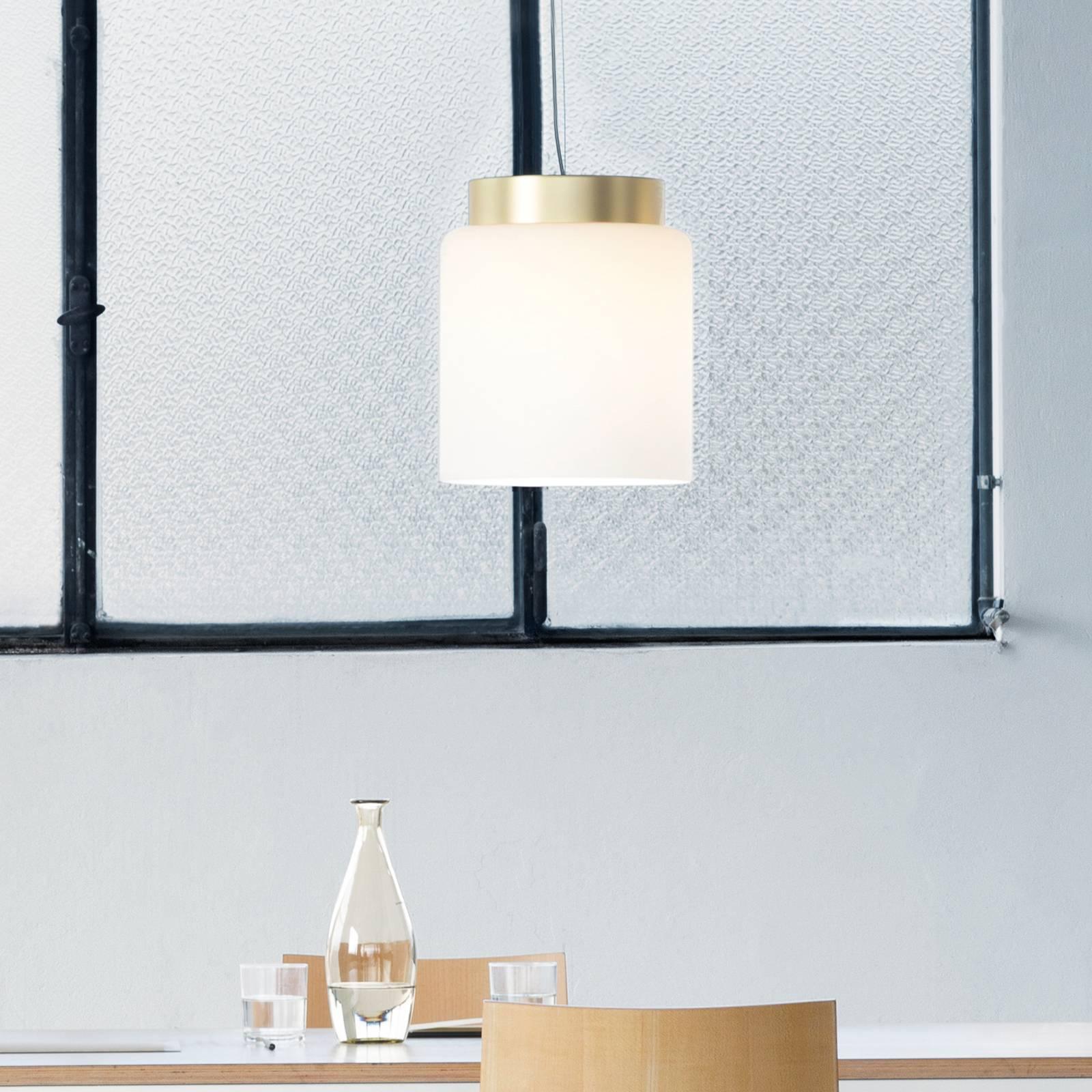 Prandina Segesta hanglamp messing/kap wit Ø27cm