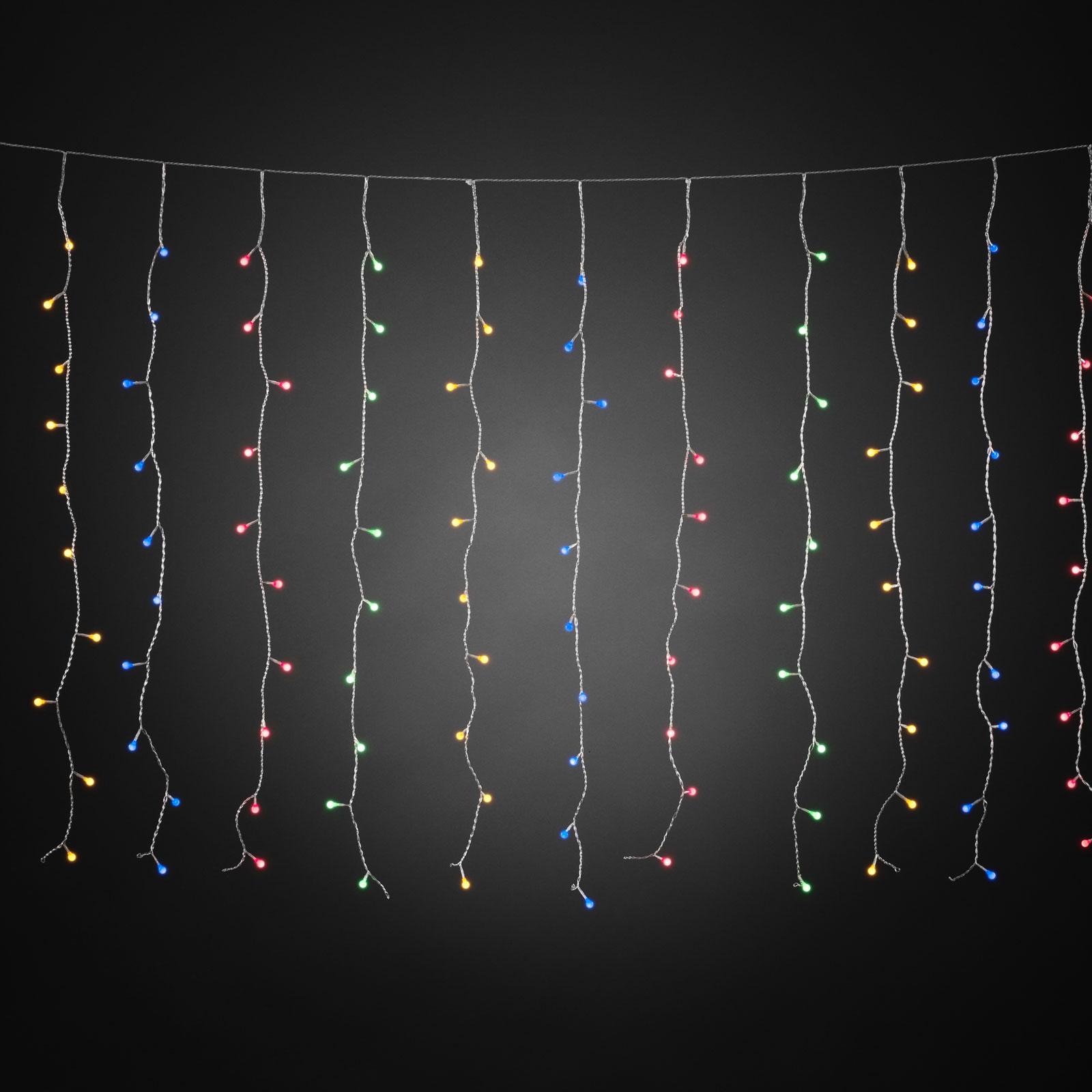 Kurtyna świetlna LED z kolorowymi kulami, 400-pkt.