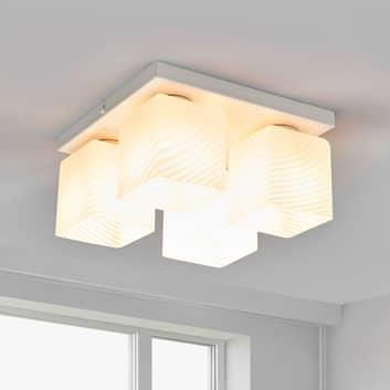 Lámpara de techo Vega en blanco, 4 brazos