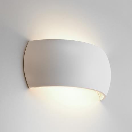Gipsowa lampa ścienna Milo, dowolnie aranżowana
