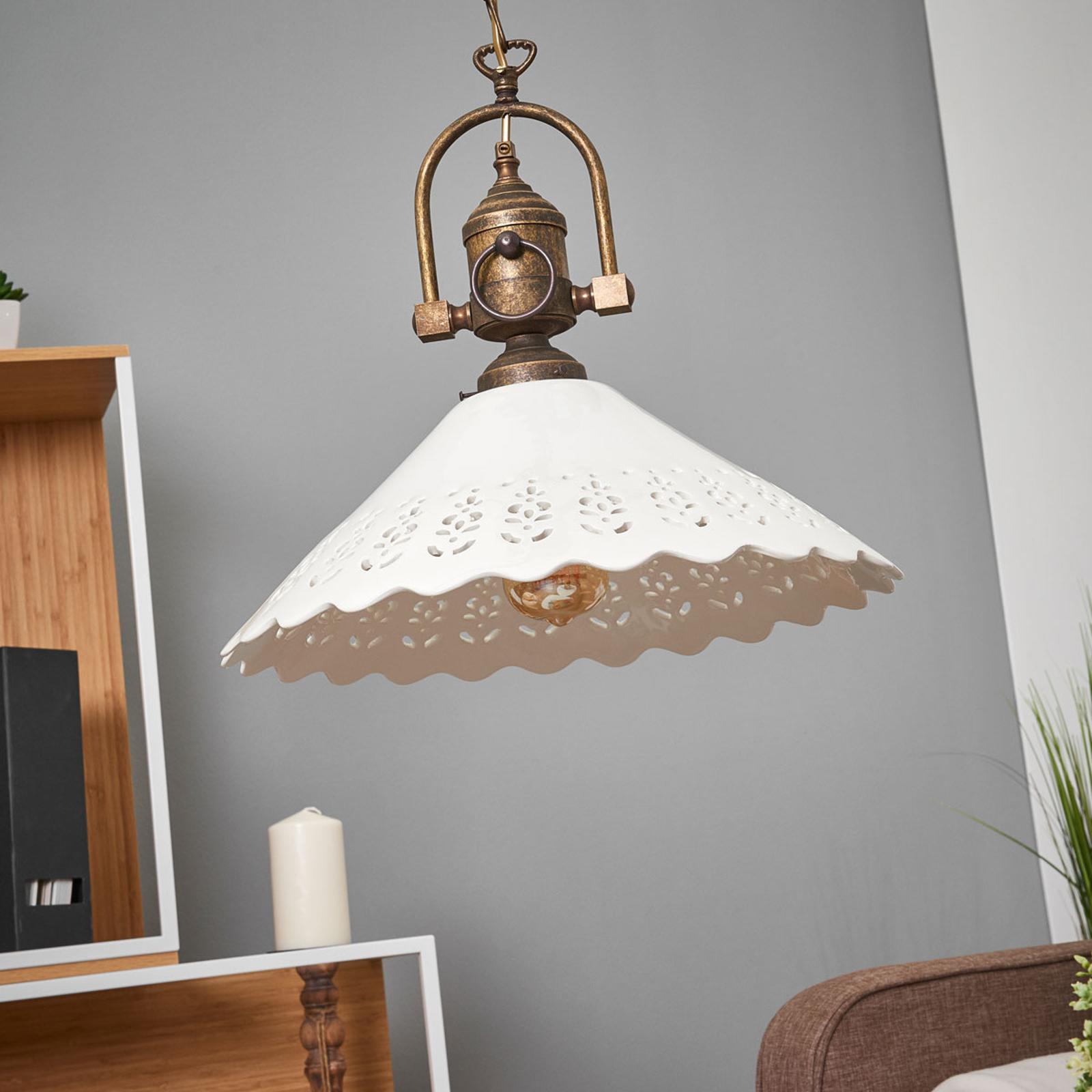 Lampa wisząca Pizzo z łańcuchem, 1-punktowa