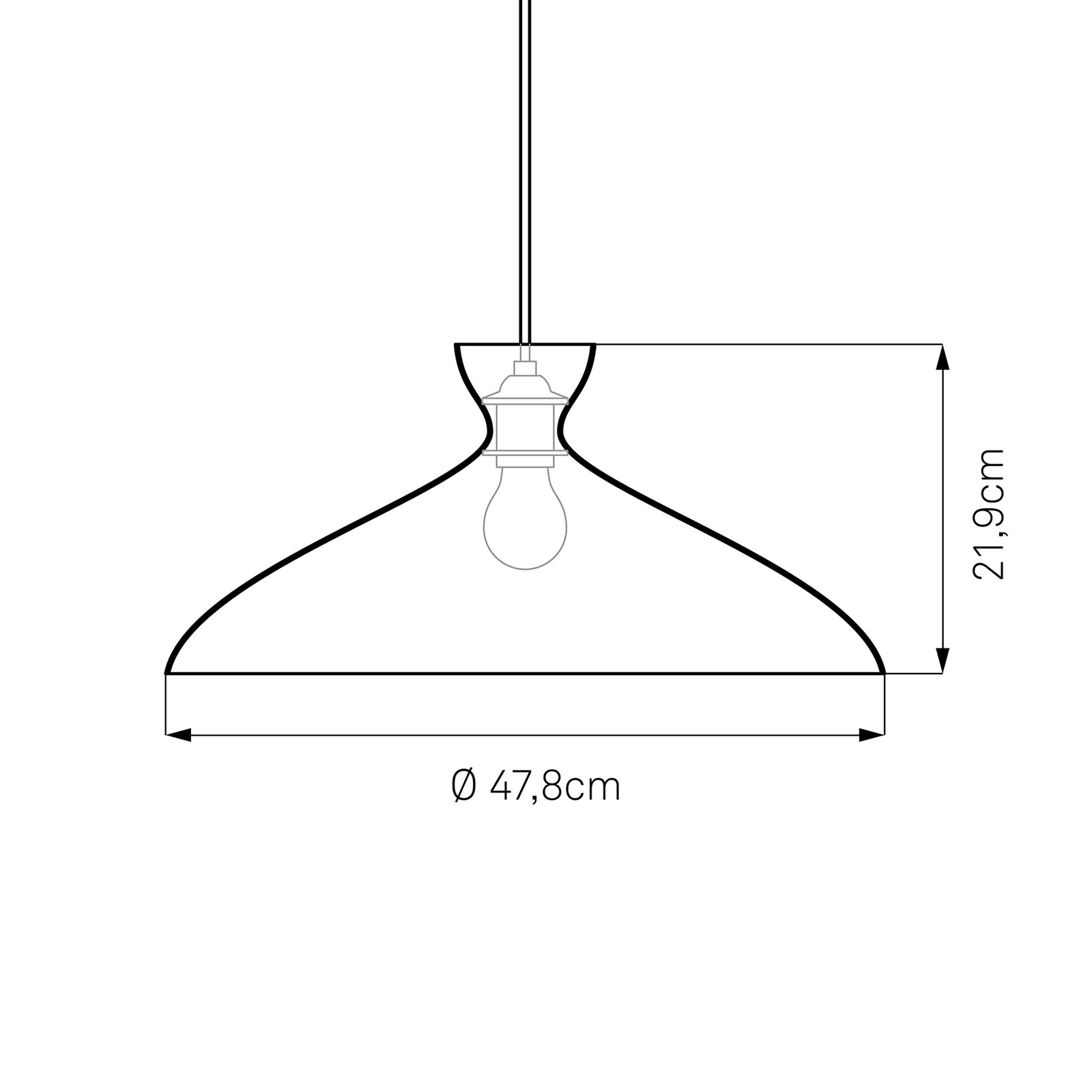 Nyta Pretty wide hanglamp 3m, wit glanzend
