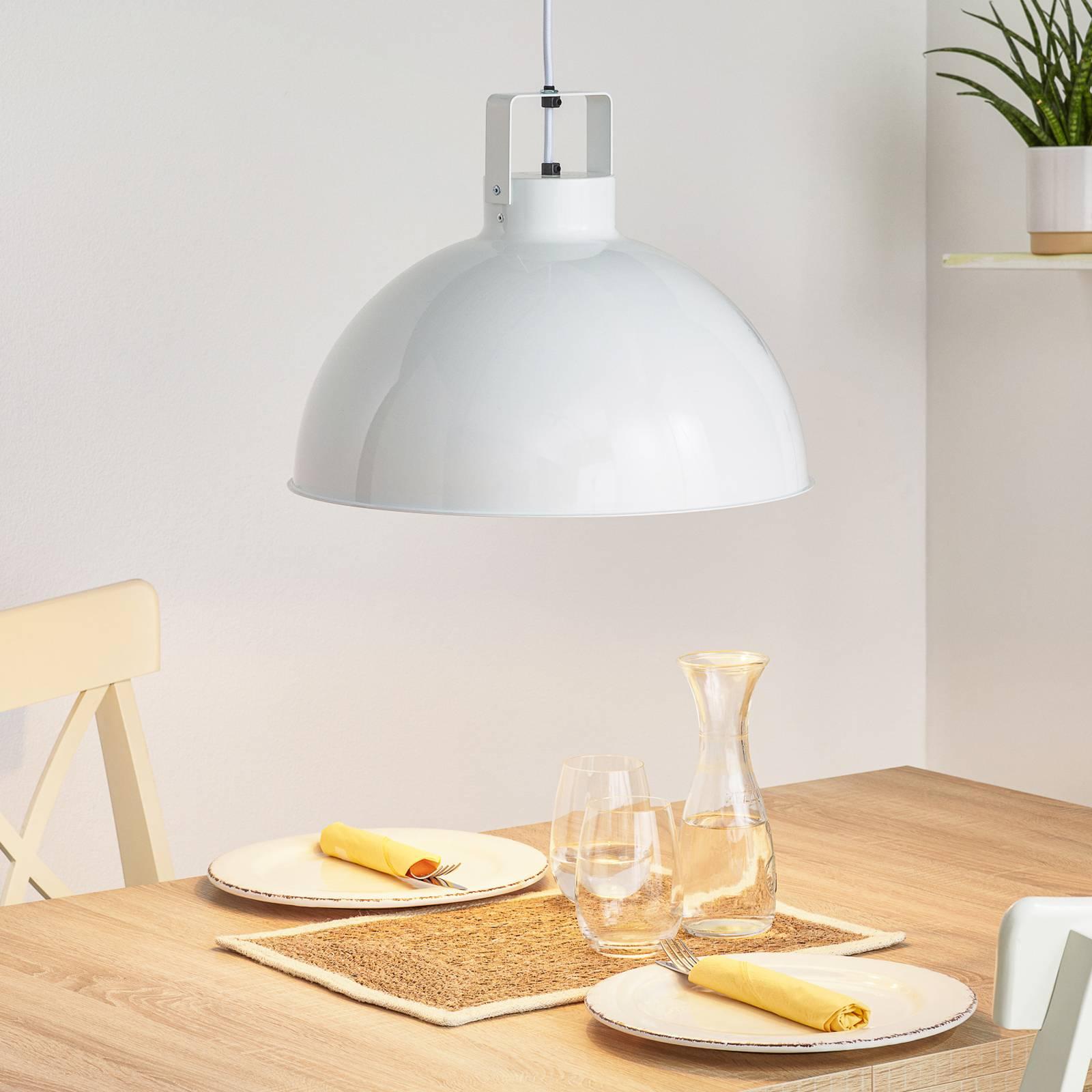 Jieldé Dante D450 lampa wisząca, biała, Ø 45 cm