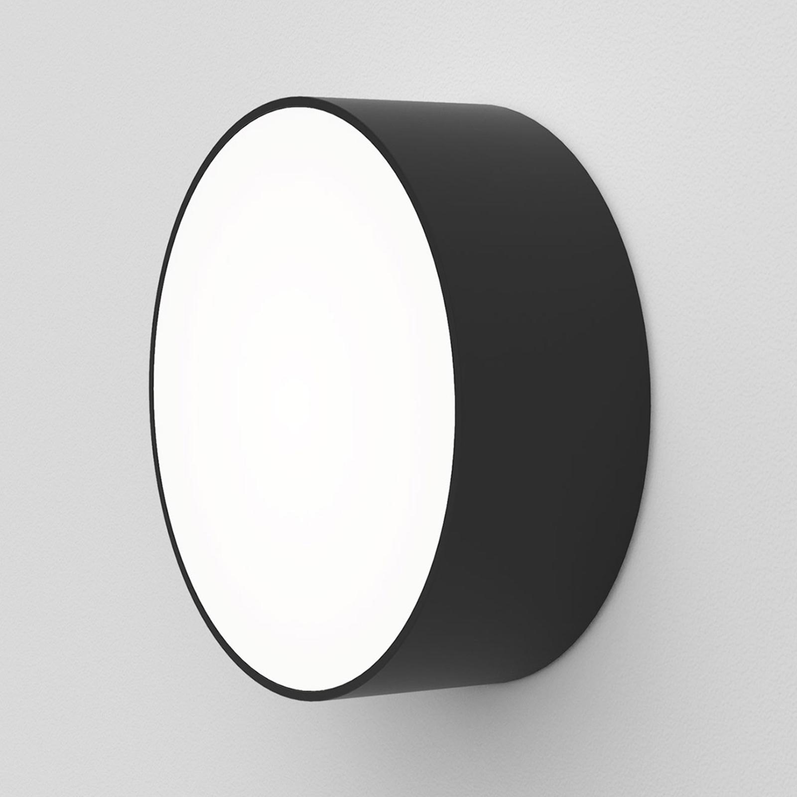 Astro Kea Round 150 LED-vegglampe, svart
