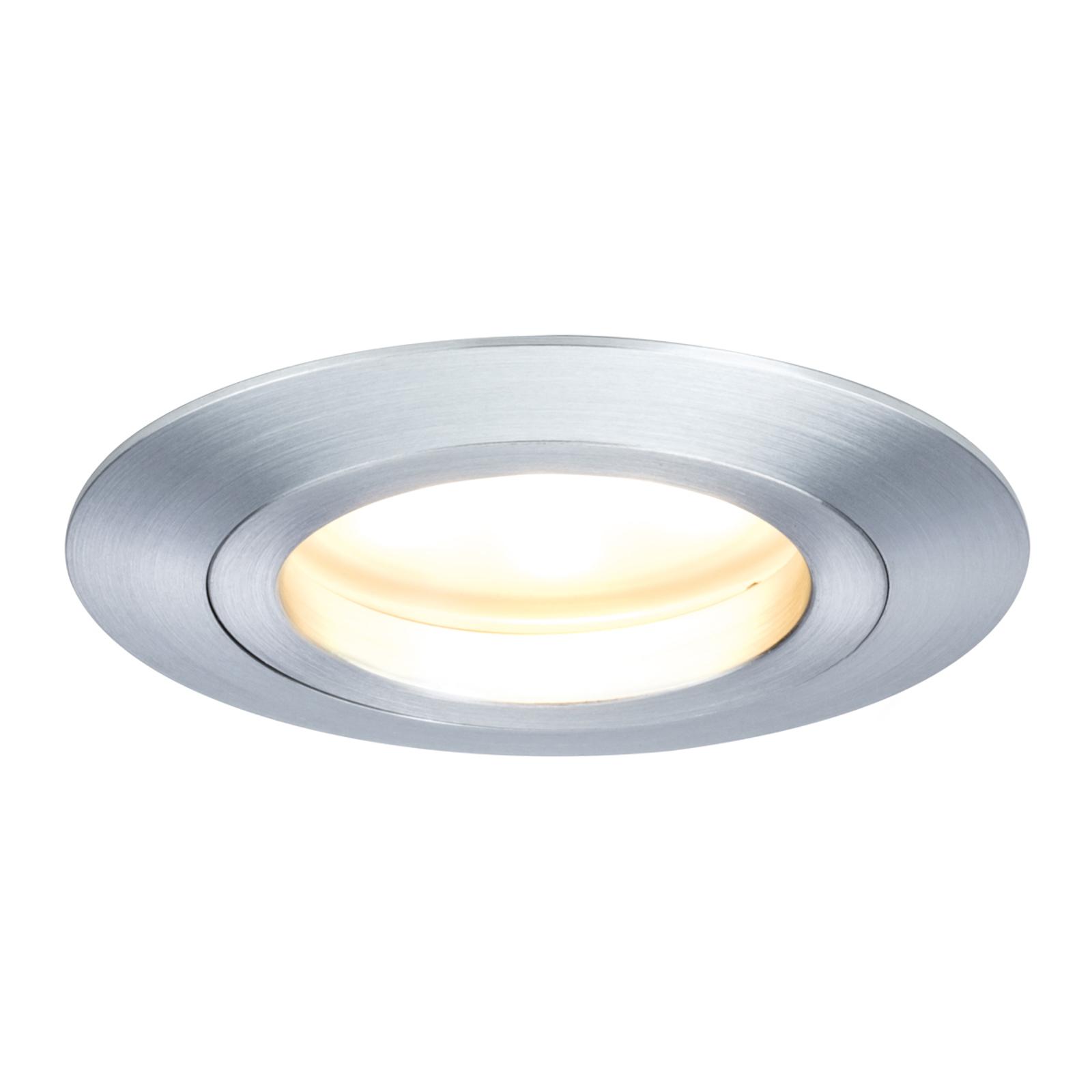 Lampe LED encastrable couleur aluminium Coin IP44