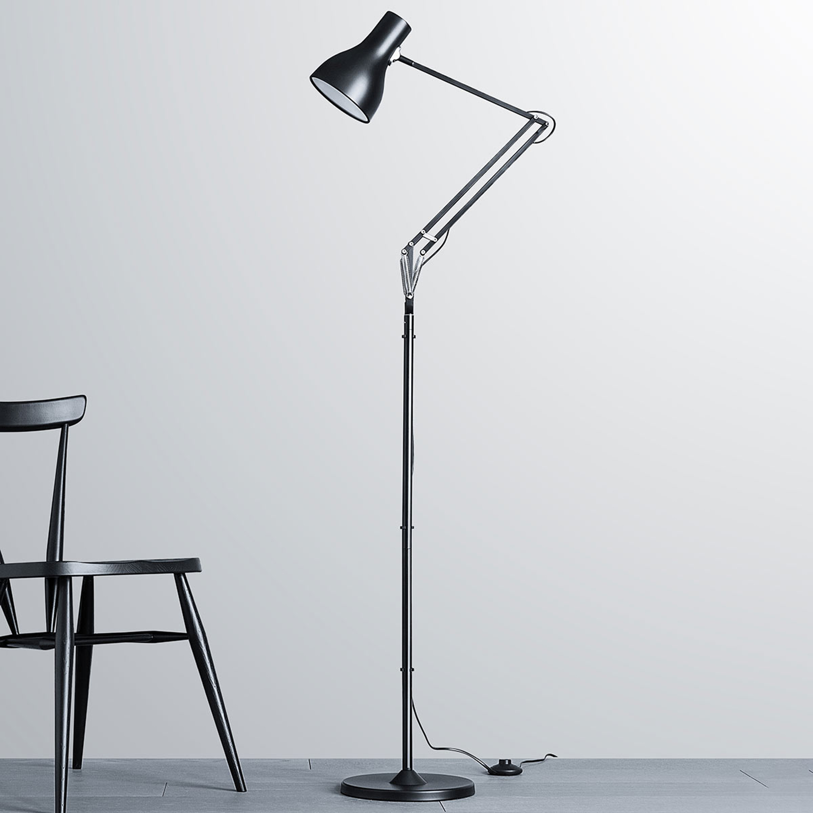 Anglepoise Type 75 lampadaire noir velours