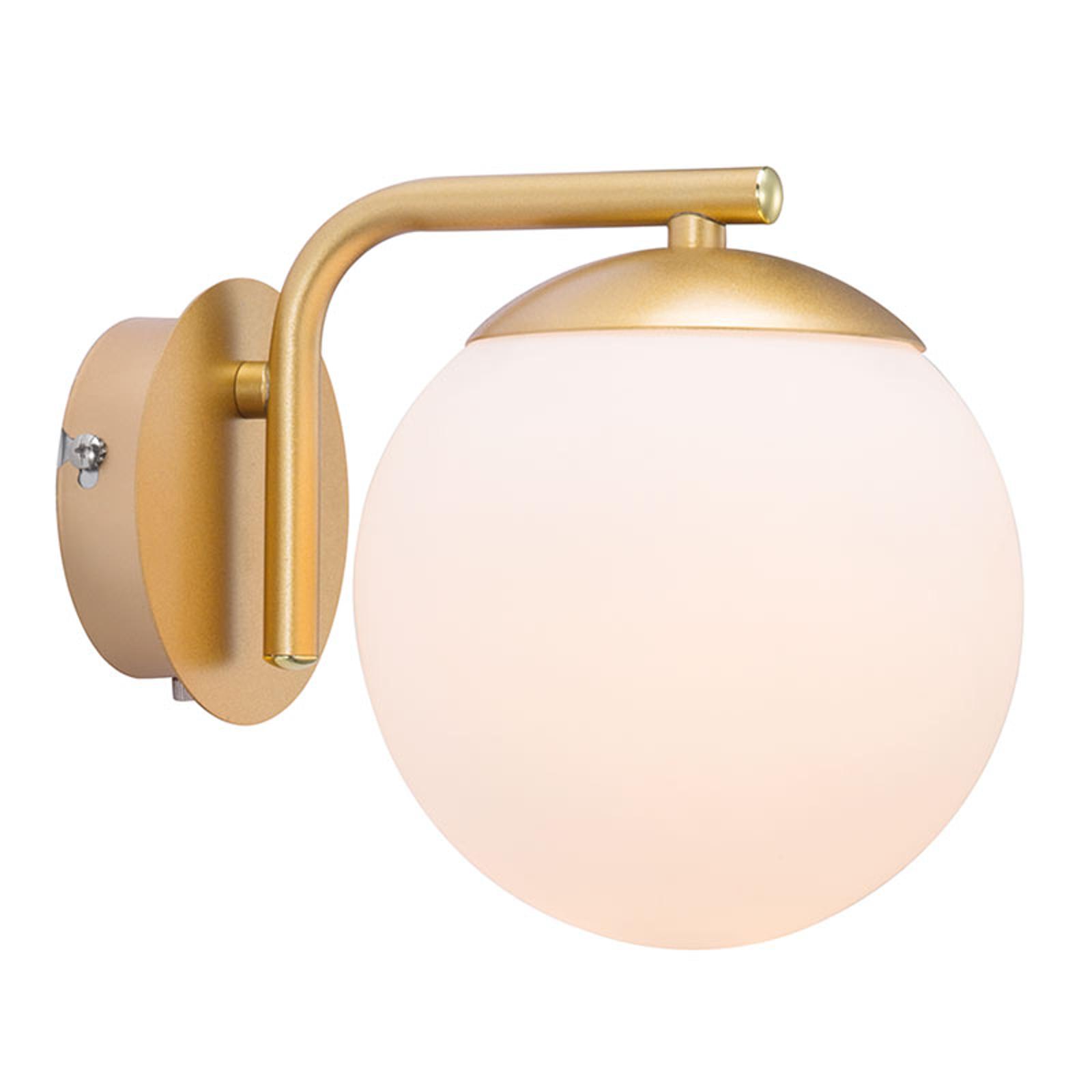 Vegglampe Grant med plugg, messing