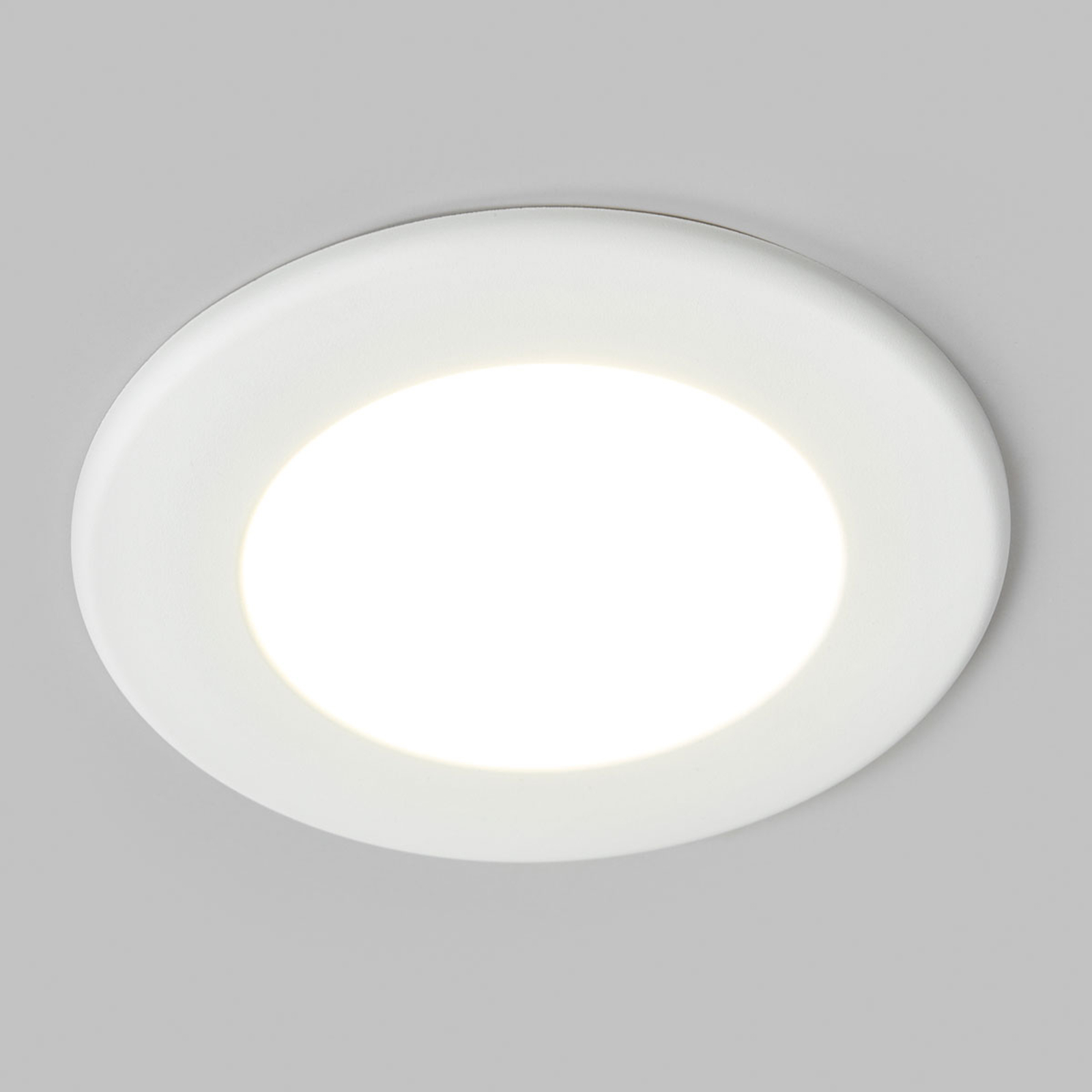 LED-innfelt spot Joki, hvit, 4000K rund 11,5cm