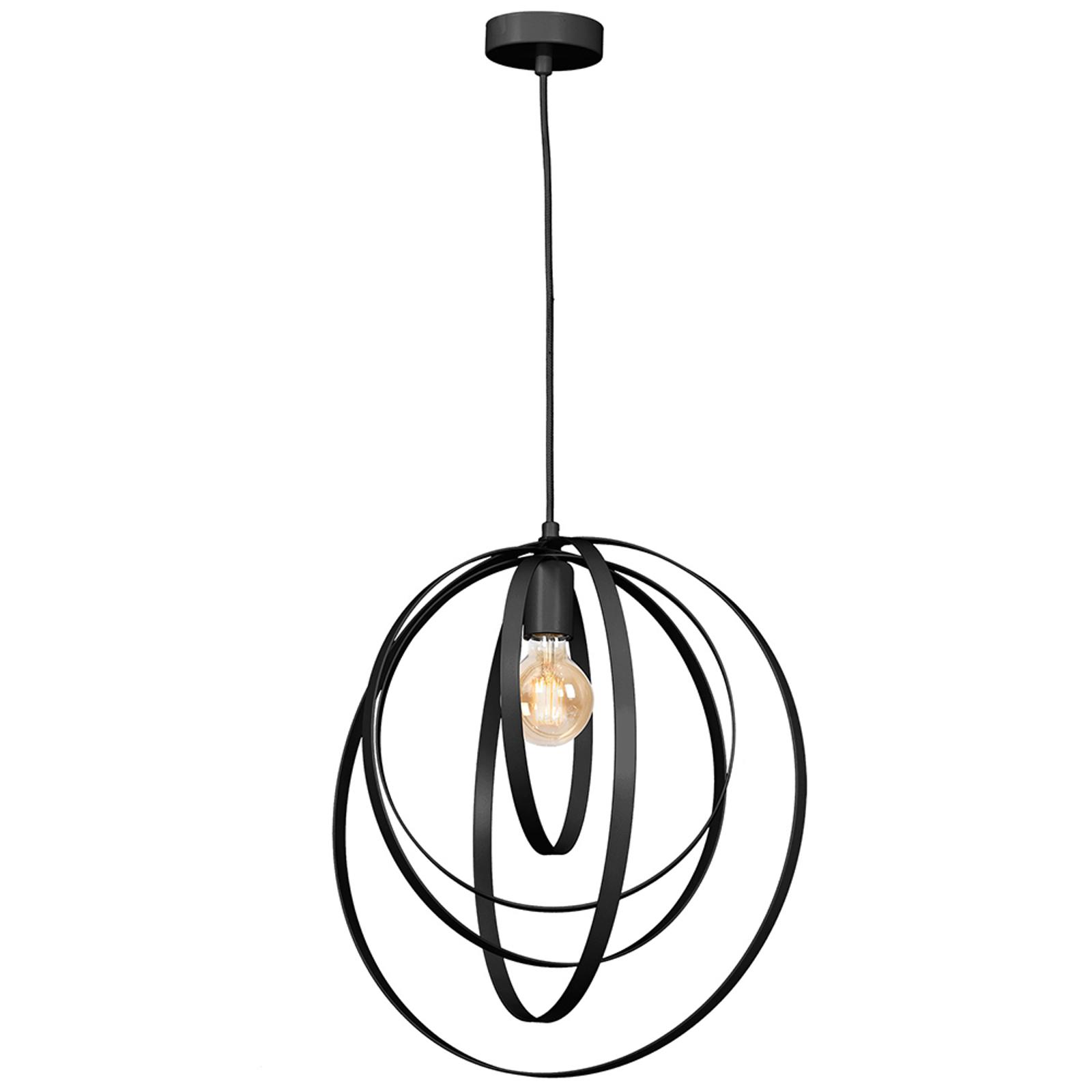 Lampa wisząca Ringo, 1-punktowa, czarna