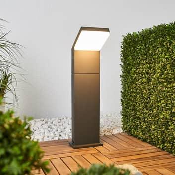 Yolena, szaro-grafitowy słupek ogrodowy LED, 60 cm