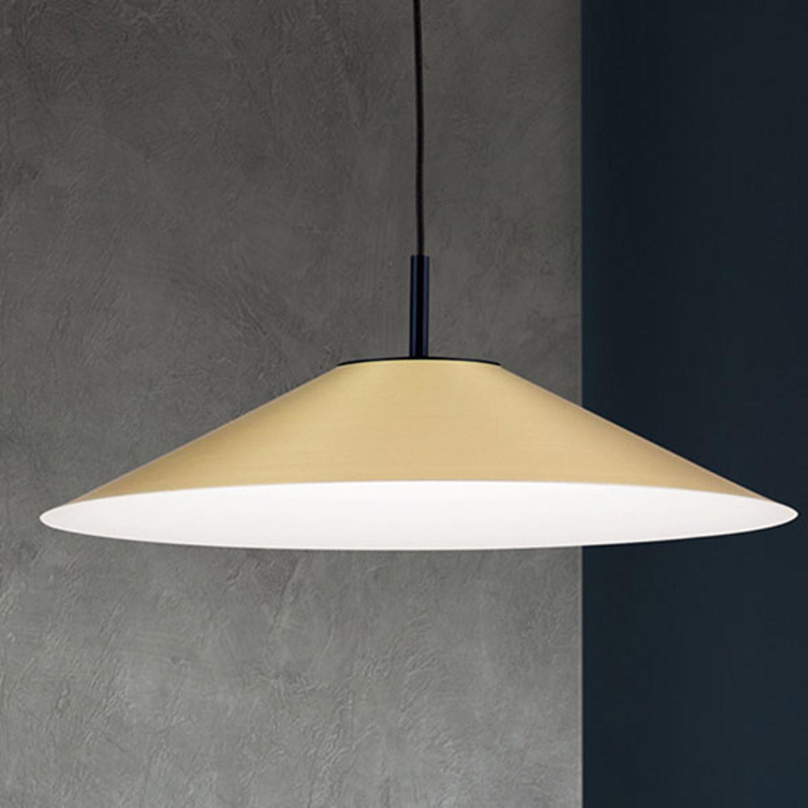 Suspension LED Gourmet, abat-jour laiton-mat