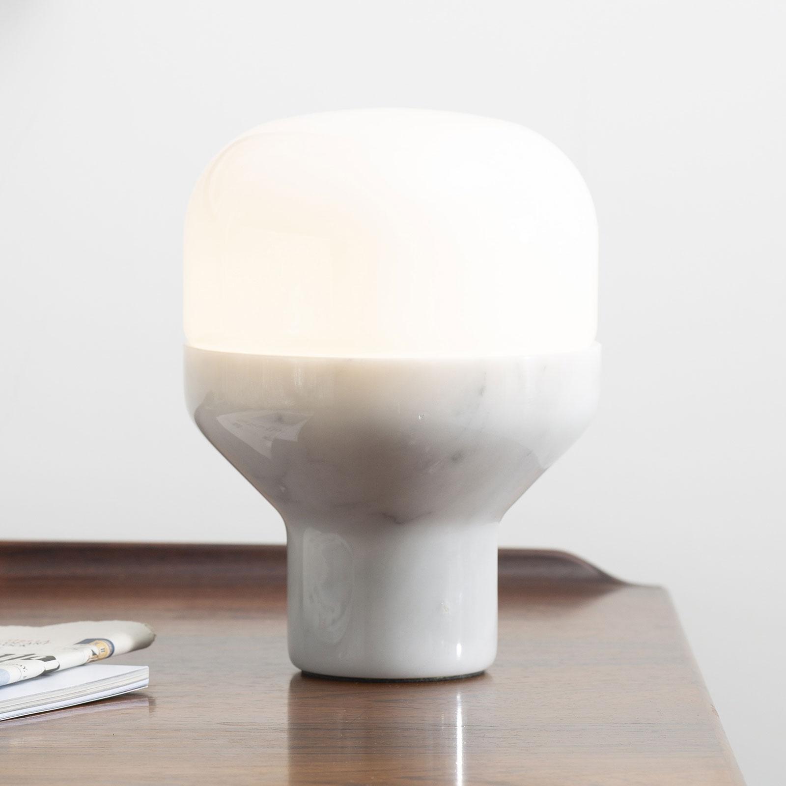Martinelli Luce Delux Tisch 22cm Marmor weiß