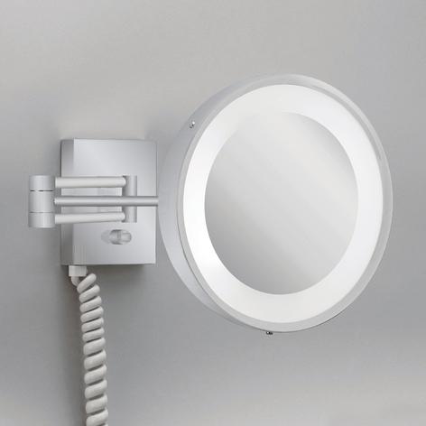Miroir cosmétique éclairé VISIO nickel satiné