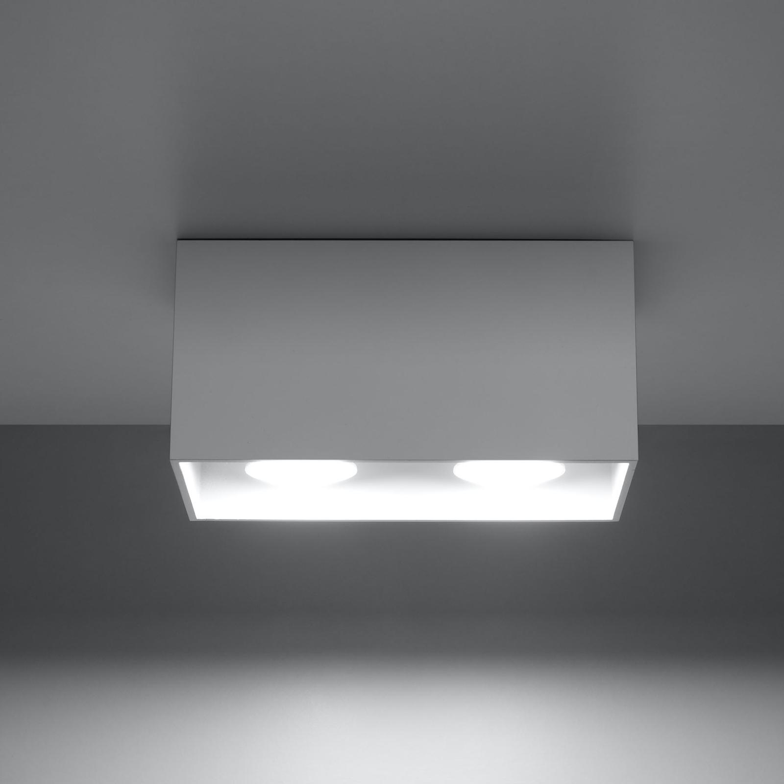 Deckenleuchte Ara Maxi aus Aluminium 2fl. weiß