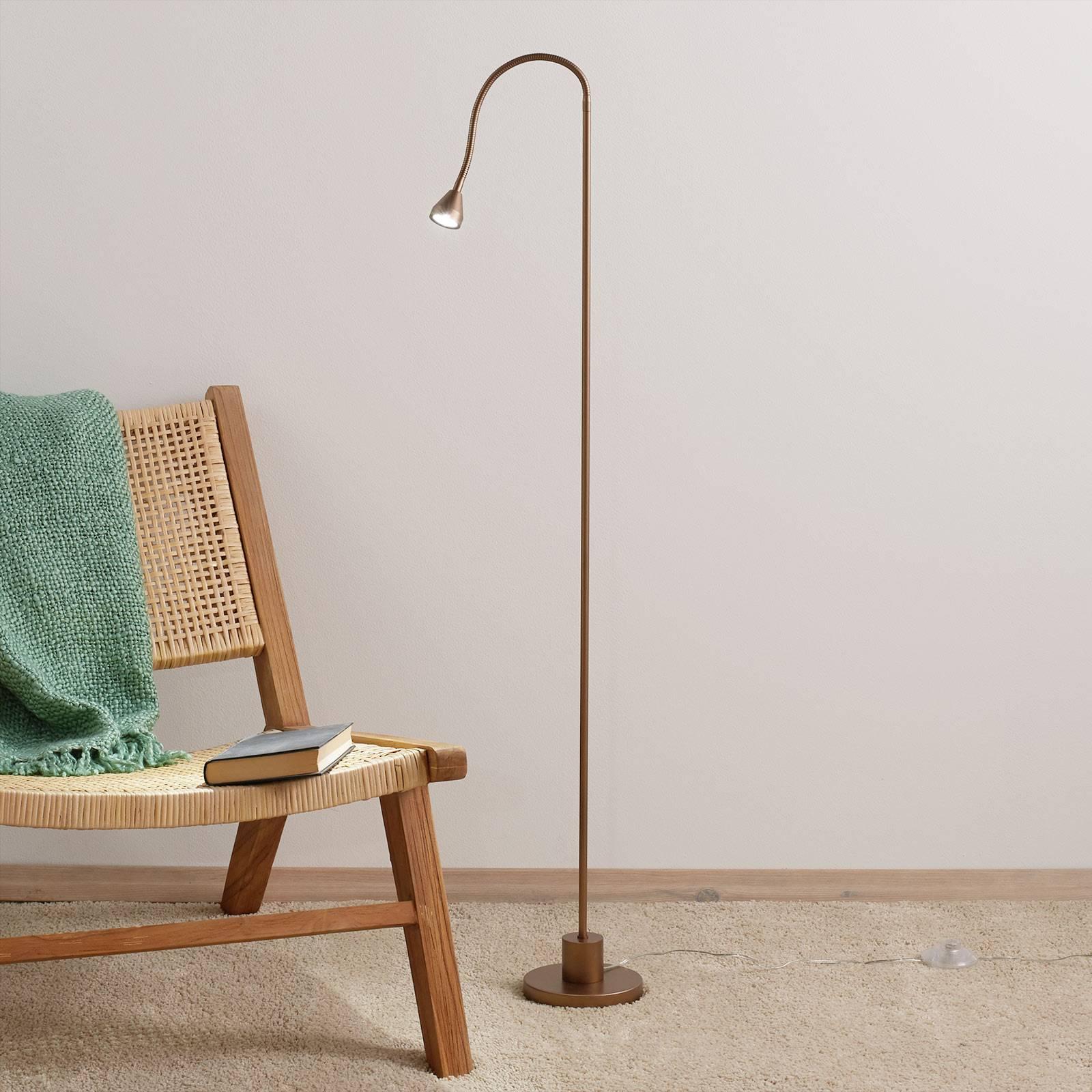 Minimalistyczna lampa stojąca LED MINI antyk